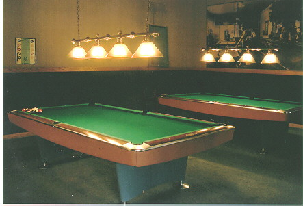 Billiard room with 3 Tables. Monthly Tournament