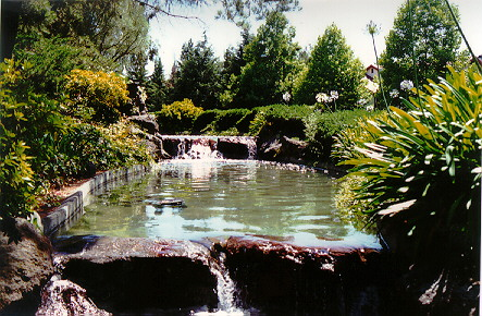 Creeks, Strams, Ponds, A Lake, Bridges, Waterfalls, Fountains and Tropical Gardens